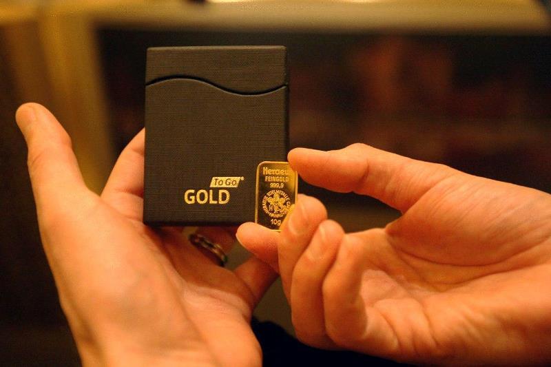 слиток золота весом 10г